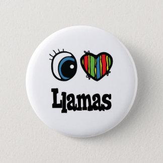 I Love (Heart) Llamas 2 Inch Round Button