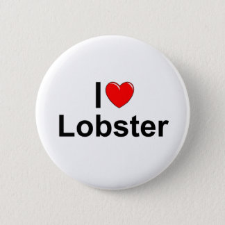I Love (Heart) Lobster 2 Inch Round Button