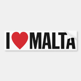 "I Love Heart Malta 11"" 28cm Vinyl Decal Bumper Sticker"