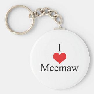 I Love (Heart) Meemaw Keychain