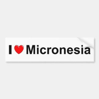 I Love Heart Micronesia Bumper Sticker