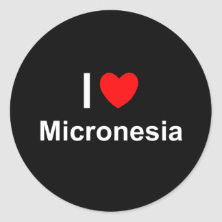 I Love Heart Micronesia Classic Round Sticker