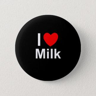 I Love Heart Milk 2 Inch Round Button