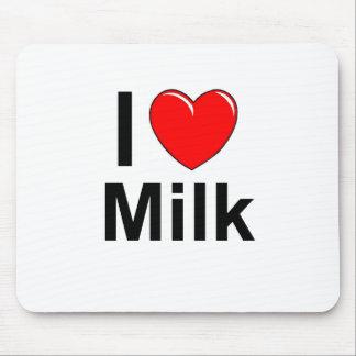 I Love Heart Milk Mouse Pad