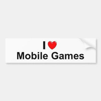I Love Heart Mobile Games Bumper Sticker