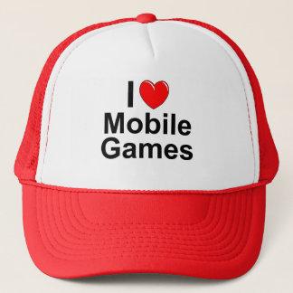 I Love Heart Mobile Games Trucker Hat