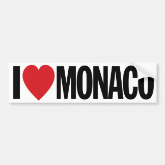 "I Love Heart Monaco 11"" 28cm Vinyl Decal Bumper Sticker"