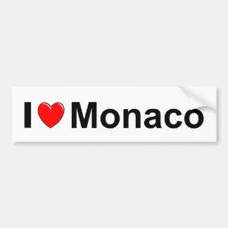 I Love Heart Monaco Bumper Sticker