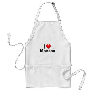 I Love Heart Monaco Standard Apron