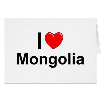I Love Heart Mongolia Card