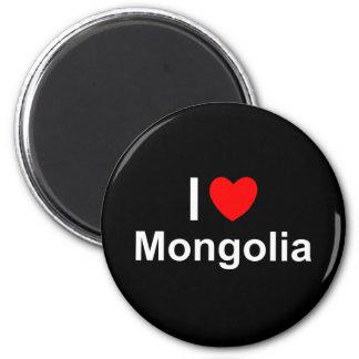I Love Heart Mongolia Magnet
