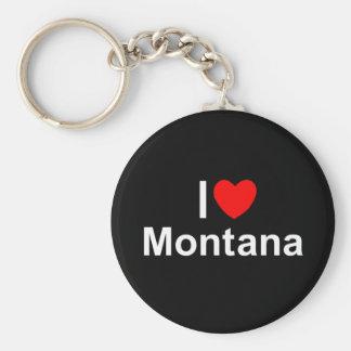 I Love (Heart) Montana Keychain