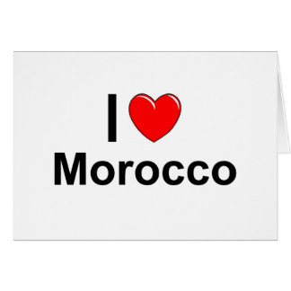 I Love Heart Morocco Card
