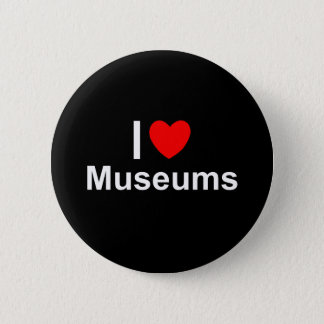 I Love Heart Museums 2 Inch Round Button