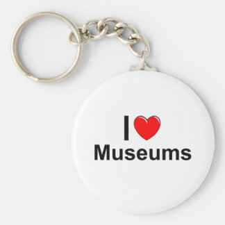 I Love Heart Museums Keychain