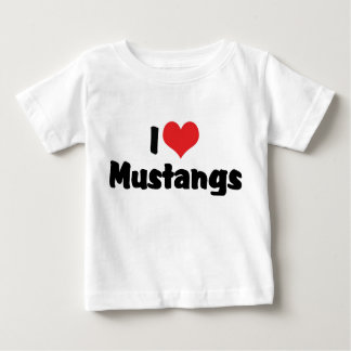 I Love Heart Mustangs - Horse Lover Baby T-Shirt