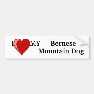 I Love (Heart) My Bernese Mountain Dog Bumper Sticker