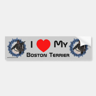 I Love Heart My Boston Terrier Bumper Sticker
