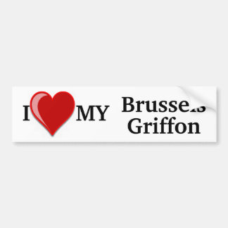 I Love (Heart) My Brussels Griffon Dog Sticker