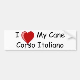 I Love (Heart) My Cane Corso Italiano Dog Bumper Sticker