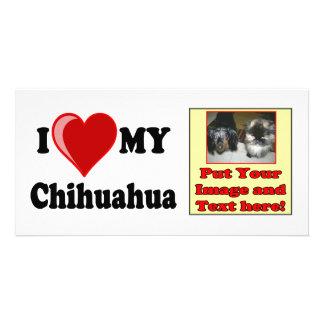 I Love (Heart) My Chihuahua Dog Rack Card Photo Cards