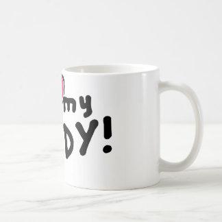 I love (heart) my daddy! classic white coffee mug