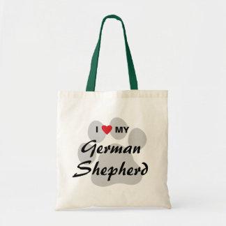 I Love (Heart) My German Shepherd Pawprint