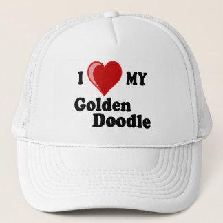 I Love (Heart) My Golden Doodle Dog Hat