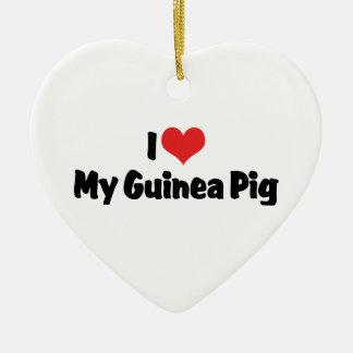 I love Heart My Guinea Pig Ceramic Ornament