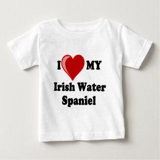 I Love (Heart) My Irish Water Spaniel Dog Baby T-Shirt