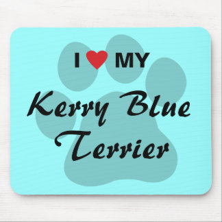 I Love (Heart) My Kerry Blue Terrier Mouse Pad