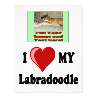 I Love (Heart) My Labradoodle Dog Personalized Flyer