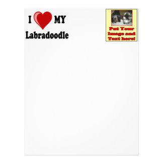 I Love (Heart) My Labradoodle Dog Letterhead