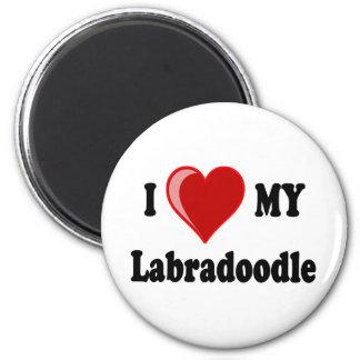 I Love (Heart) My Labradoodle Dog Refrigerator Magnets
