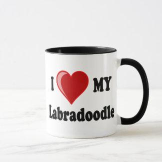 I Love (Heart) My Labradoodle Dog Mug