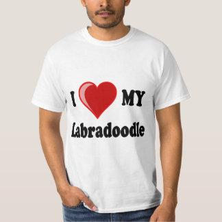 I Love (Heart) My Labradoodle Dog Shirts