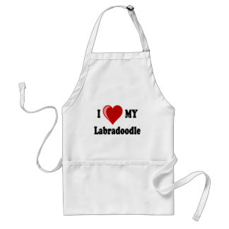 I Love (Heart) My Labradoodle Dog Standard Apron