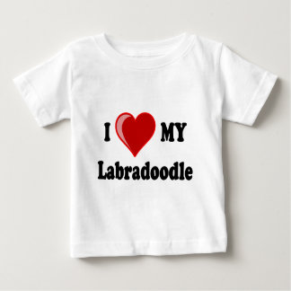 I Love (Heart) My Labradoodle Dog T Shirt