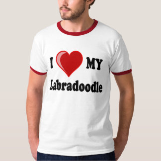 I Love (Heart) My Labradoodle Dog T-Shirt