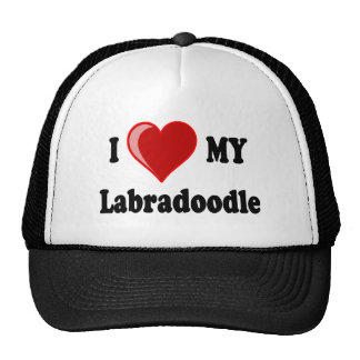 I Love (Heart) My Labradoodle Dog Trucker Hat