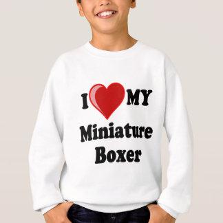 I Love (Heart) My Miniature Boxer Dog Sweatshirt