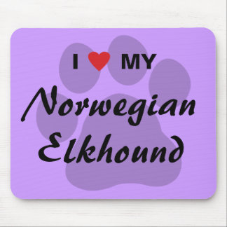 I Love (Heart) My Norwegian Elkhound Mouse Pad