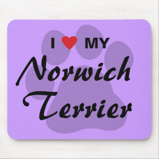 I Love (Heart) My Norwich Terrier Mouse Pad