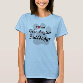 I Love (Heart) My Old English Bulldogge Shirt