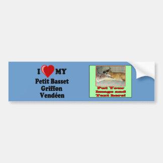 I Love (Heart) My Petit Basset Griffon Vendéen Dog Bumper Sticker