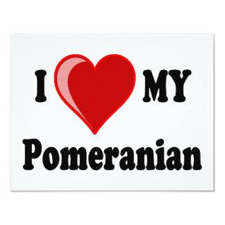 I Love (Heart) My Pomeranian Dog Card