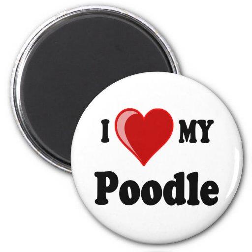 I Love (Heart) My Poodle Dog Magnet