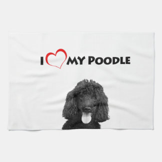 I Love Heart My Poodle Towel