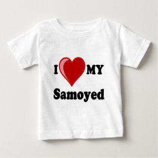 I Love (Heart) My Samoyed Dog Baby T-Shirt
