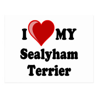 I Love (Heart) My Sealyham Terrier Dog Gifts Postcard